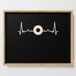 Donut Heartbeat Foodie Doughnut Gift Serving Tray