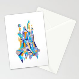 City of th Clowns - blue Stationery Cards
