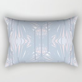 Tropical Art Deco Pattern - Pastel blue and pink Rectangular Pillow