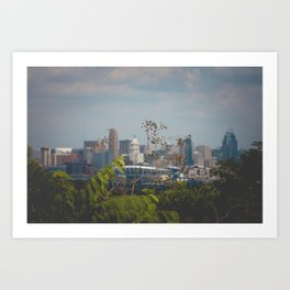 Cincinnati from Covington, Kentucky Art Print