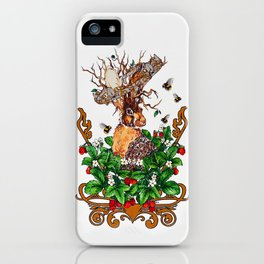 Woodland Rabbit King iPhone Case