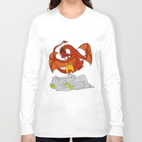 narnia Long Sleeve T-shirts featuring TO NARNIA by Crystalwhisker