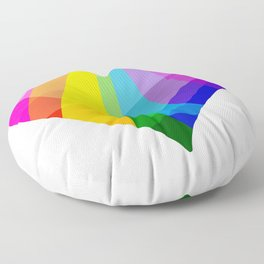 Rainbow Heart Floor Pillow