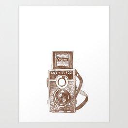 Camera Sketch 3 Art Print