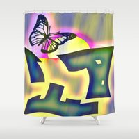 free shipping Shower Curtains featuring  Butterfly  -  Free shipping thru sunday :)worldwide !! by LoRo  Art & Pictures