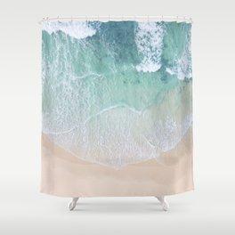 Green Ocean And Seashore Shower Curtain