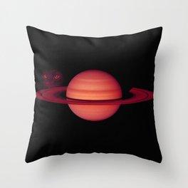 Sadie on Saturn Throw Pillow