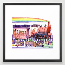 Get on the Love Train! Framed Art Print