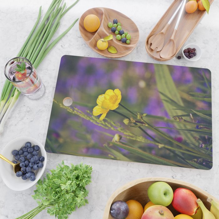 Buttercup Blues Cutting Board
