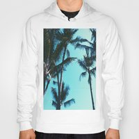 palm trees Hoodies featuring Palm Trees by Alexandra Str