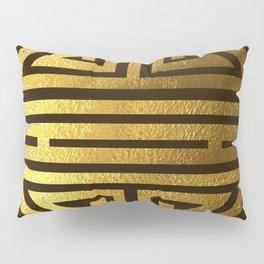 Four blessings Gold Pillow Sham