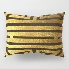 Four blessings Gold Pillow Sham