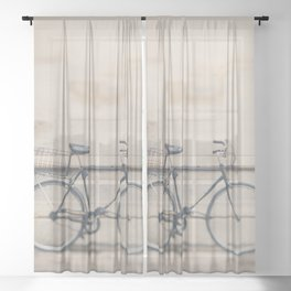a very masculine bicycle Sheer Curtain