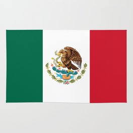 Flag of Mexico - Authentic Scale and Color (HD image) Rug