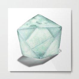 Illuminated Structure: Solo Fluorite Metal Print