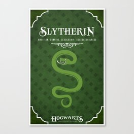 Slytherin House Poster Canvas Print