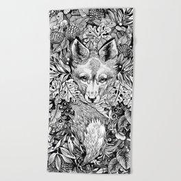 hidden fox Beach Towel