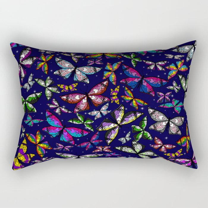 Fly With Pride: Butterfly Bonanza Rectangular Pillow