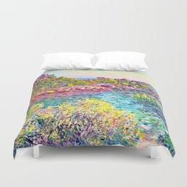 Landscape near Montecarlo - Claude Monet Duvet Cover