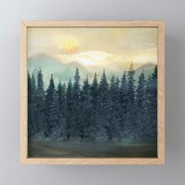 Forest Under the Sunset II Framed Mini Art Print