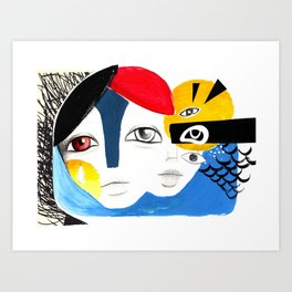 Multiplicidade 3 Art Print