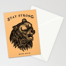 STAY STRONG NEVER GIVE UP Stationery Cards