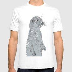 Otter Mens Fitted Tee MEDIUM White