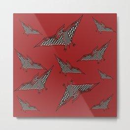 Pterosauria red Metal Print