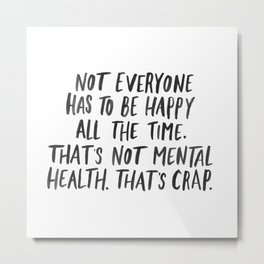 Mental Health Metal Print