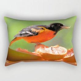 Orange & Black (Baltimore Oriole) Rectangular Pillow