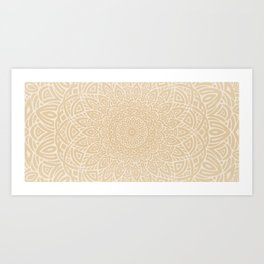 Hand Drawn Mandala // Taupe Tan Tribal Eclectic Intricate Modern Minimal Trending Popular Art Print