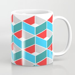 Simple Pattern Blue and Red Coffee Mug