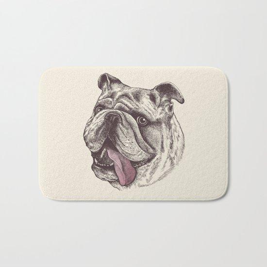 Bulldog King Bath Mat