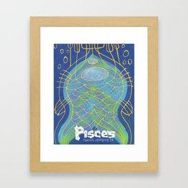 Pisces Print Framed Art Print