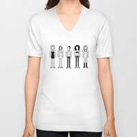 spice V-neck T-shirts featuring Spice Girls by Band Land