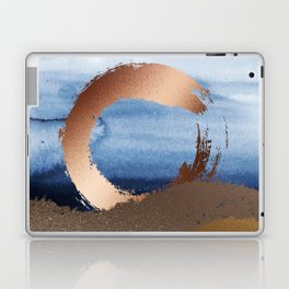 Inspiration: Gold, Copper And Blue Laptop & iPad Skin
