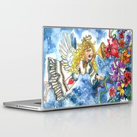 angel Laptop & iPad Skins featuring Angel by Shelley Ylst Art