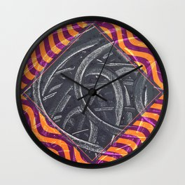 Junction - purple/orange Wall Clock
