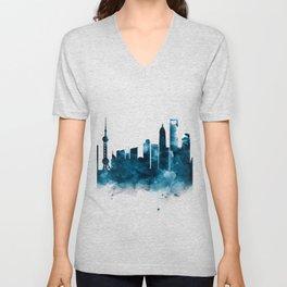 Shanghai Skyline Unisex V-Neck