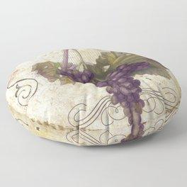 Tuscan Table Merlot Floor Pillow