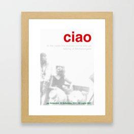 In Memoriam: Michelangelo Antonioni Framed Art Print