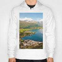 norway Hoodies featuring Sandane, Norway by MankiniPhotography