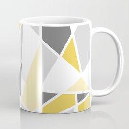 Geometric Pattern in yellow and gray Coffee Mug