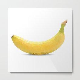 Low poly banana Metal Print