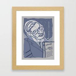 Dear Stephen Hawking / Stay Wild Collection Framed Art Print