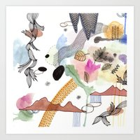 new year Art Prints featuring New Year by Brooke Weeber