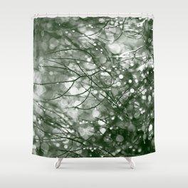 Raindrops on fennel foliage Shower Curtain