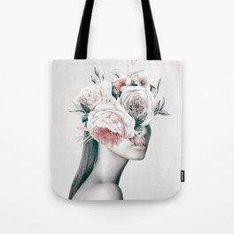 WOMAN WITH FLOWERS 11 Tote Bag