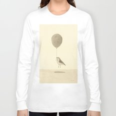 bird with a balloon Long Sleeve T-shirt