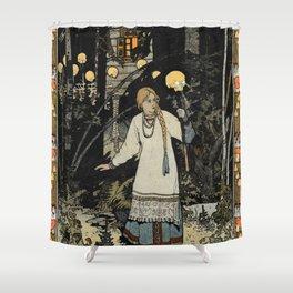 Vasilisa In the Dark Night By Ivan Biblin Shower Curtain